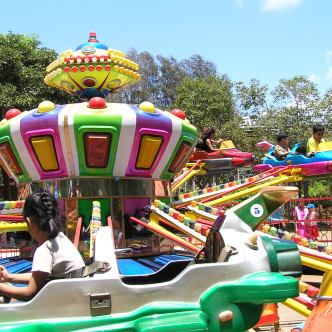 colorful merry go- round