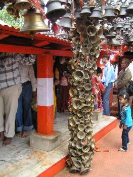 A whole pillar full of bells