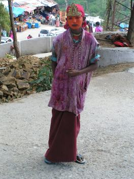 A boy dressed up as God Hanman(monkey God)