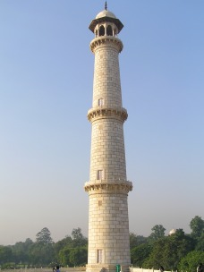 One of the four minarets on four corners.