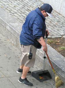 Garbage pick- up staff