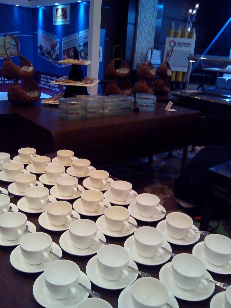 over morning tea-coffee