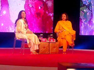 Moni Mohsin and Shobha De