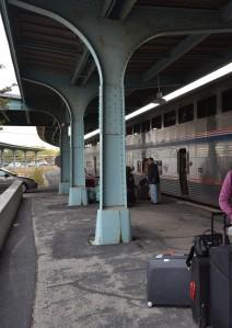 Boarding the Amtrak