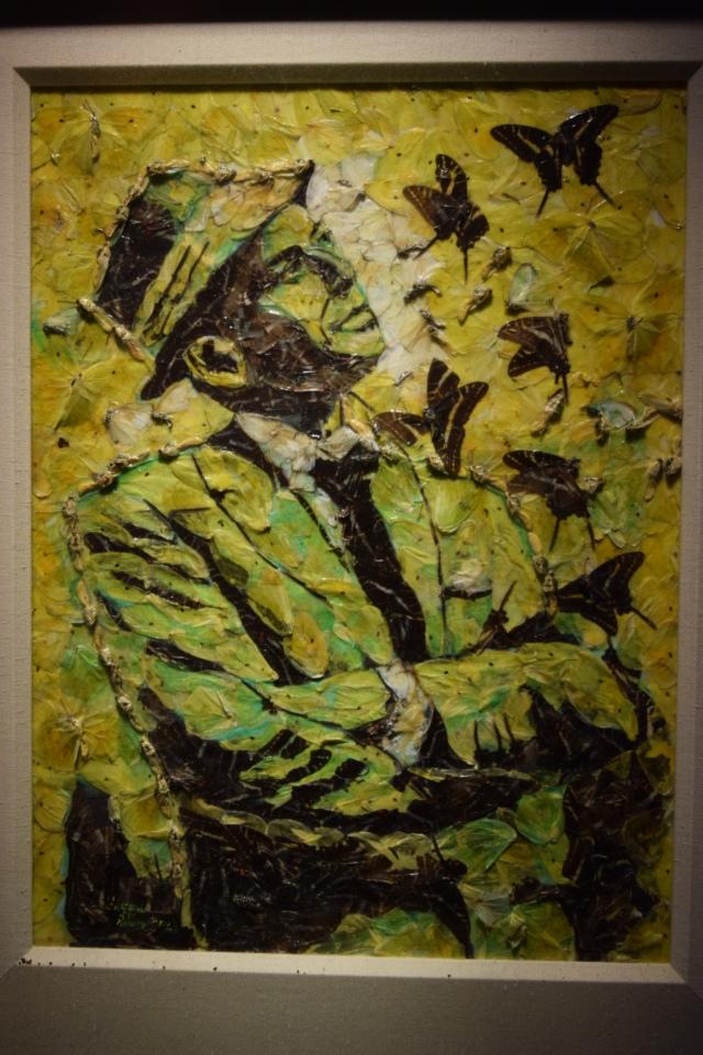 painting of dead butterflies